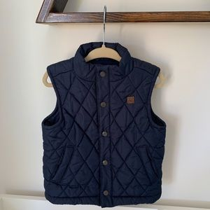 Janie & Jack Quilted Navy Classic Vest
